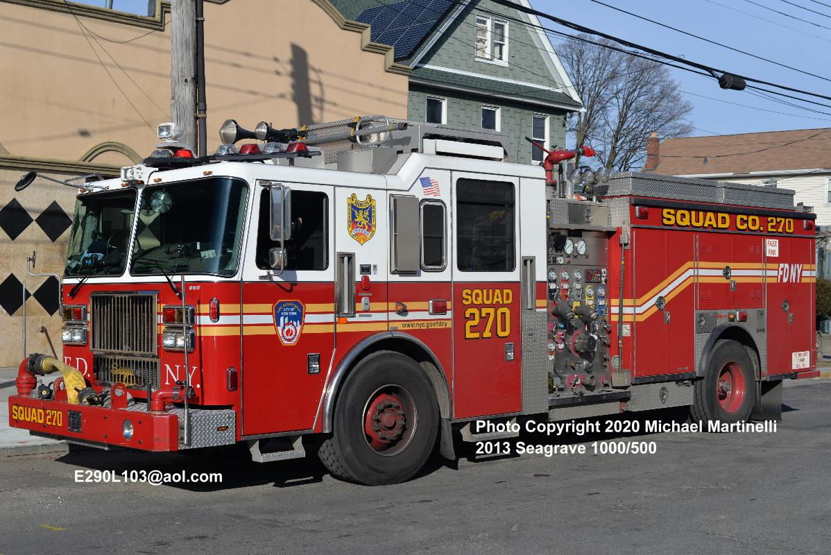 FDNY SQUAD 270 RESPONDING FROM IT'S QUARTERS IN THE RICHMOND HILLS ...