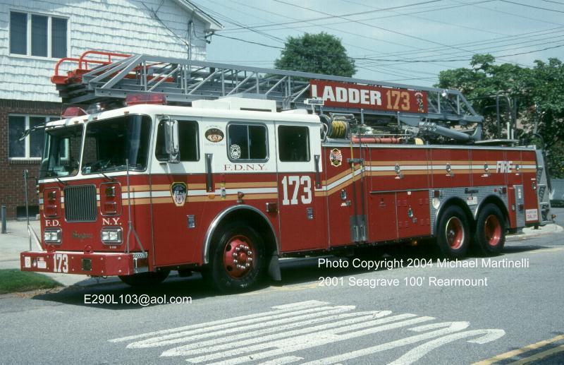 Crossbay Flukes New York City Fire Dept Engine 331 Ladder 173 Patch